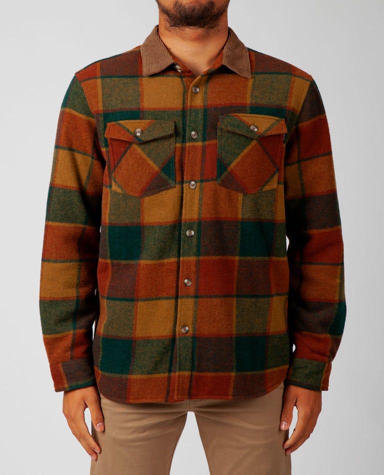 Sundown Wool Flannel in Brown