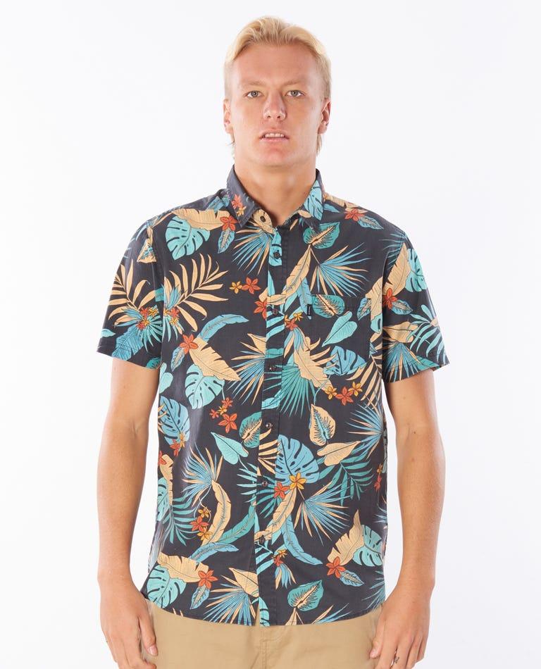 Visions Short Sleeve Shirt in Navy