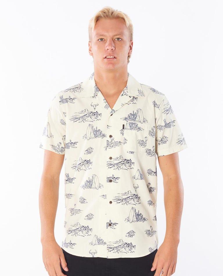 East Cape Short Sleeve Shirt in Bone