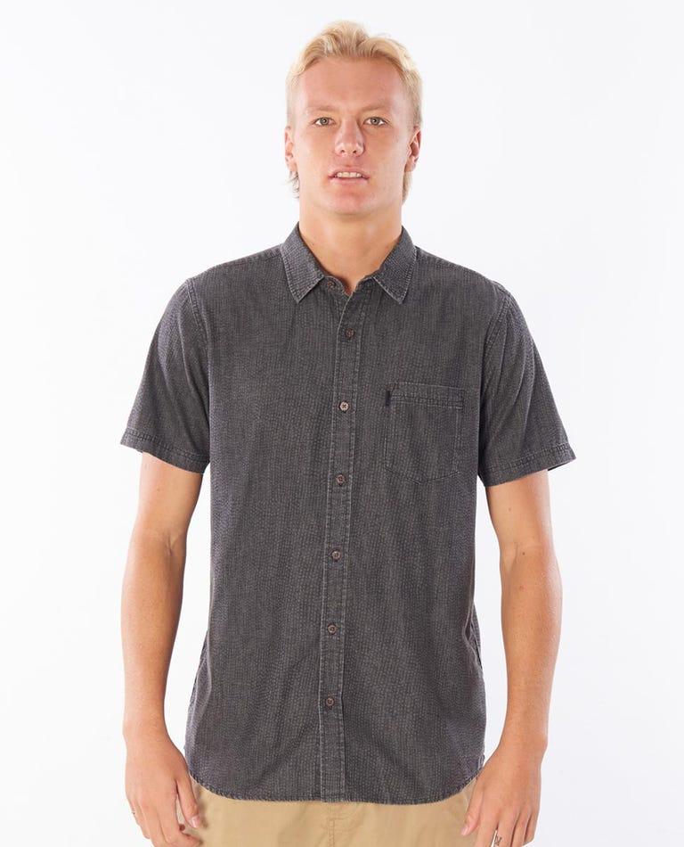 Ziggy Short Sleeve Shirt in Washed Black