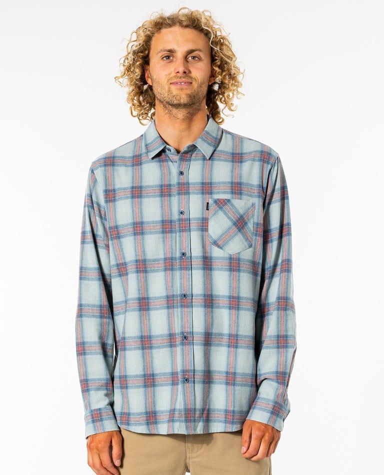 Feilding Flannel Shirt in Blue