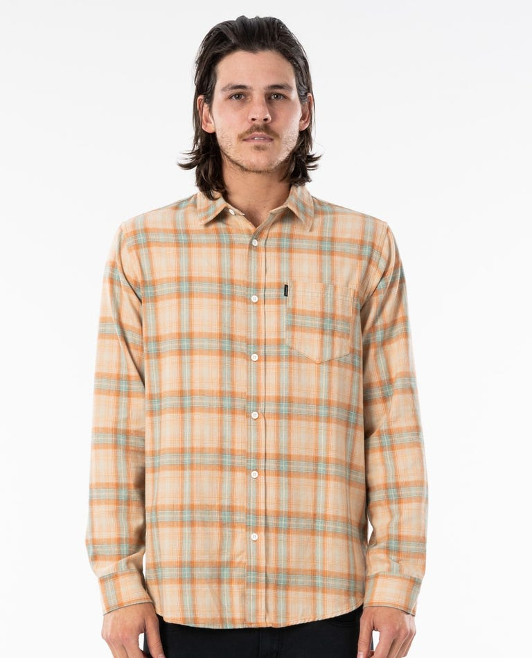 Feilding Flannel Shirt in Apricot