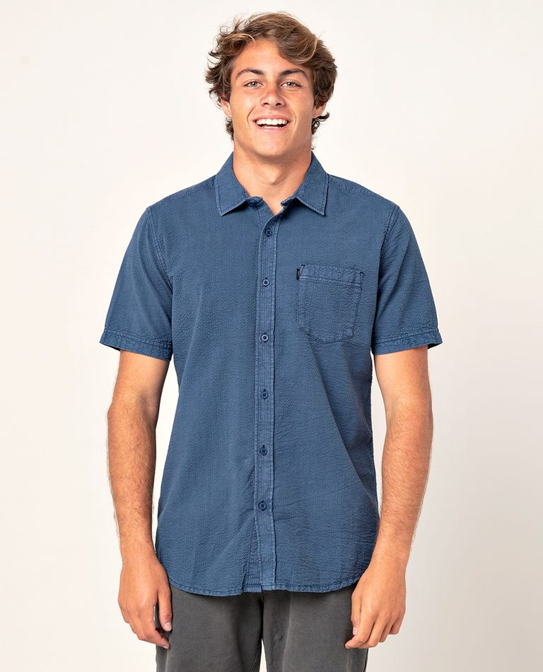 Kit Short Sleeve Shirt in Navy