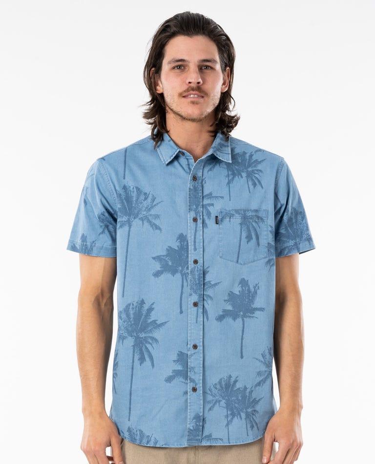 Mason Ho Short Sleeve Shirt in Light Blue