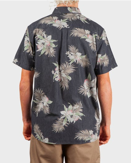 Atoll Short Sleeve Shirt in Black