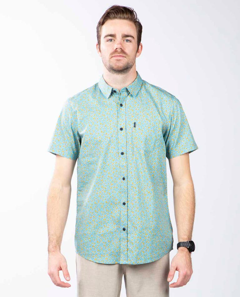 Basin Short Sleeve Shirt in Blue Moon