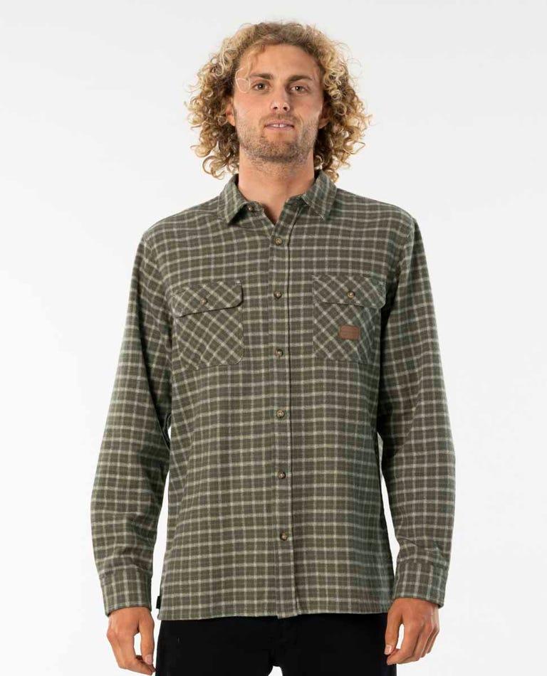 Re-Issue Flannel Shirt in Dark Olive