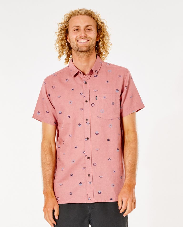 SWC Valley Short Sleeve Shirt in Washed Wine