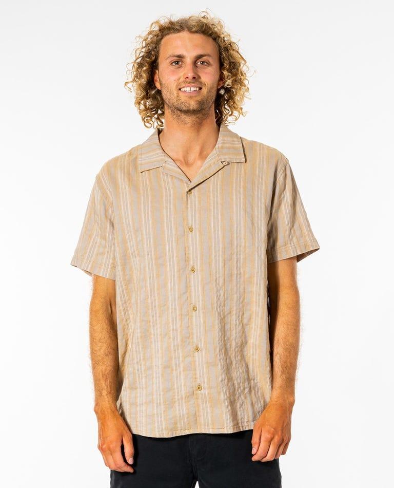 Vert Short Sleeve Shirt in Gold