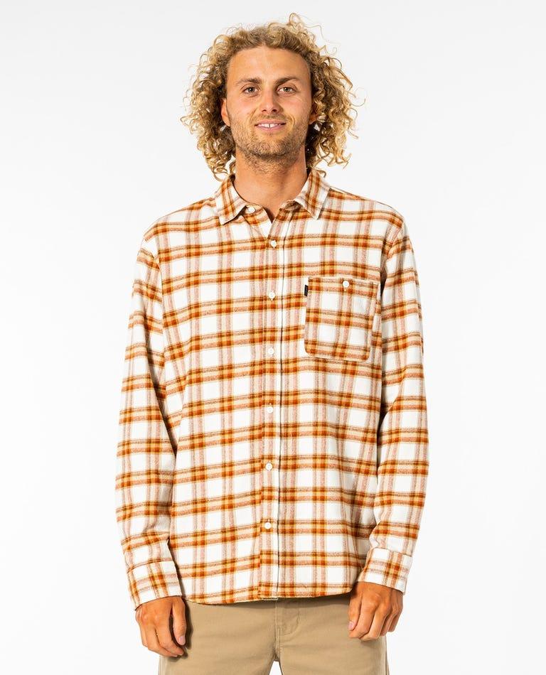 SWC Long Sleeve Flannel Shirt in Bone