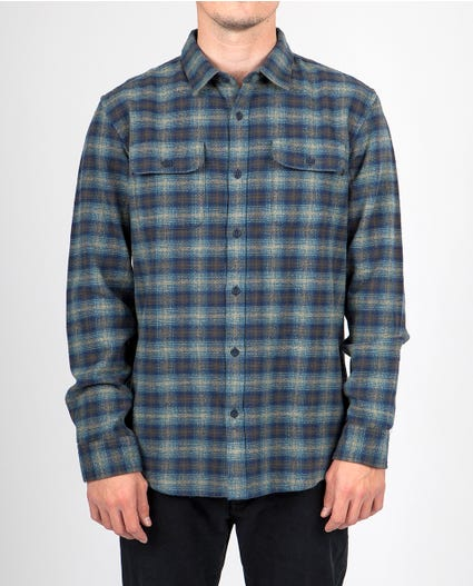 Stormy Flannel in Green