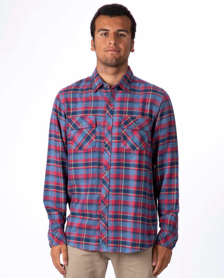 Decan Long Sleeve Flannel in Red