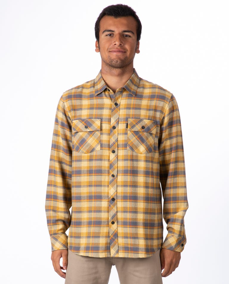 Decan Long Sleeve Flannel in Yellow