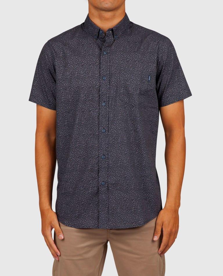 Dark Paradise Short Sleeve Shirt in Charcoal