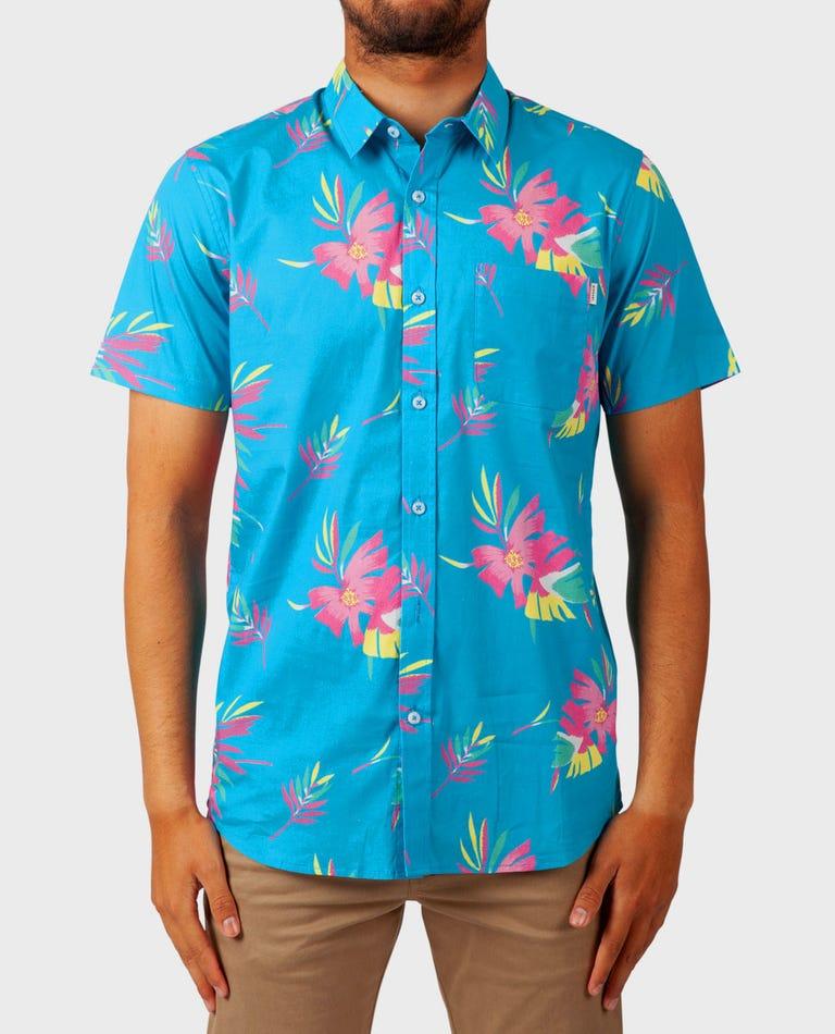 Jungles Short Sleeve Shirt in Aqua