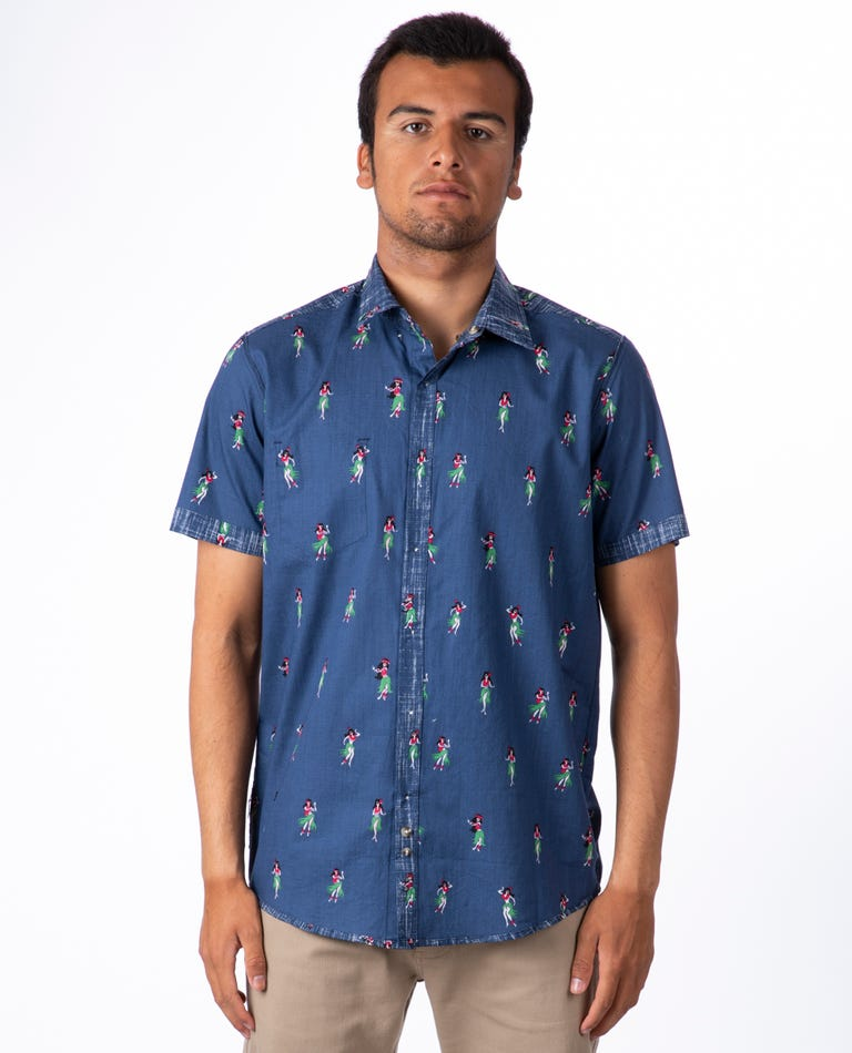 Vacation Short Sleeve Shirt in Navy