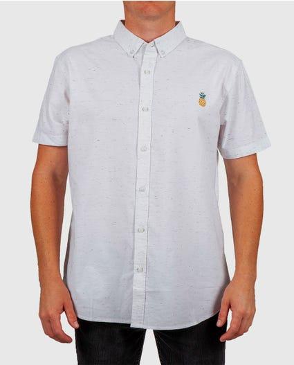 Pineapple Short Sleeve Shirt in White