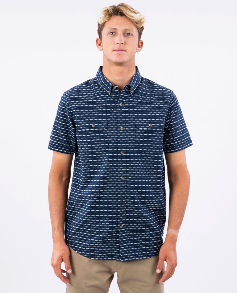 Eyecat Short Sleeve Shirt in Navy