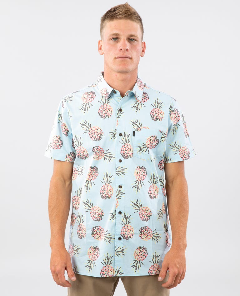 Caicos Short Sleeve Shirt in Aqua