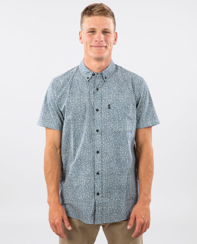 Daily Short Sleeve Shirt in Blue Grey