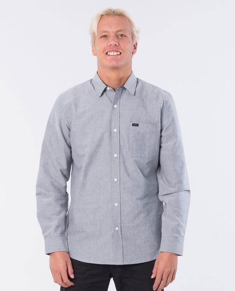 Otis Long Sleeve Shirt in Dark Grey