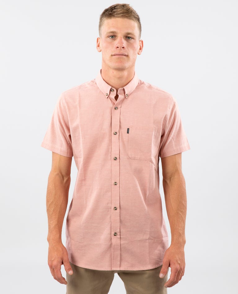 Ourtime Short Sleeve Shirt in Salmon