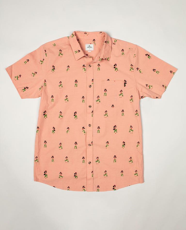 Ace Short Sleeve Shirt in Orange