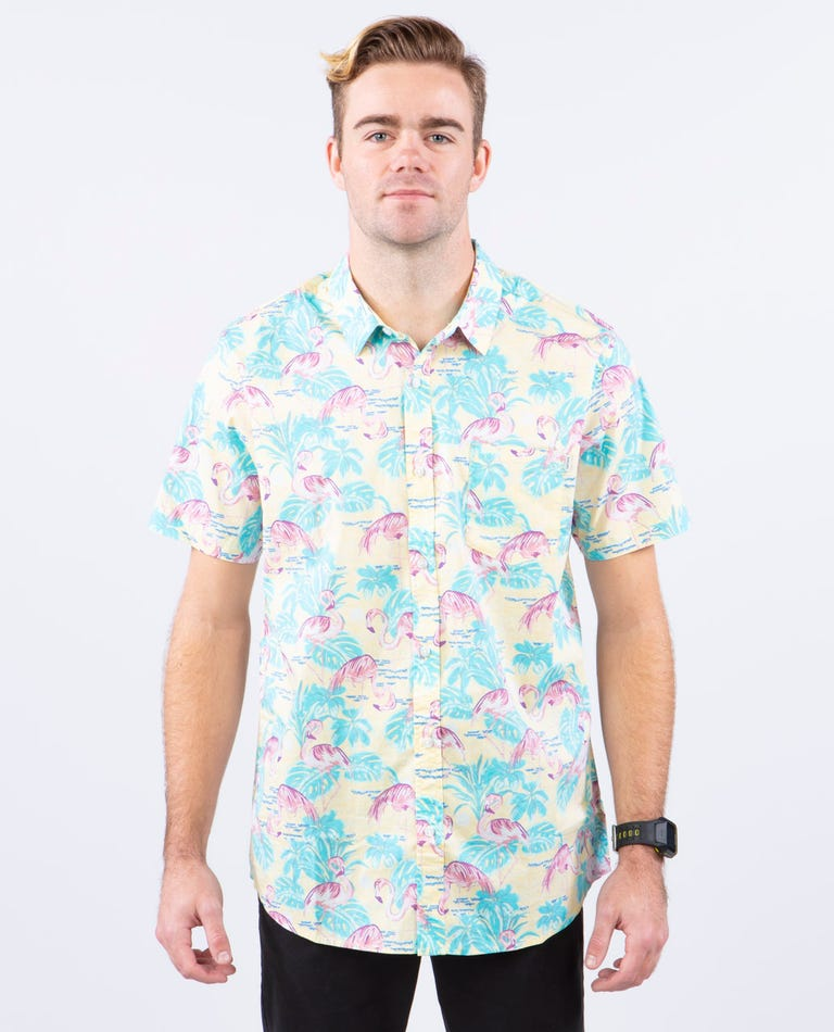 Acapulco Short Sleeve Shirt in Yellow