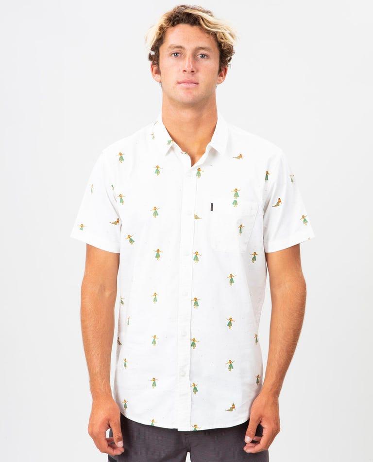 Hula Breach Short Sleeve Shirt in Off White