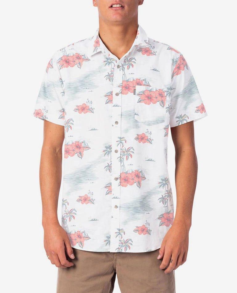 Dreamers Short Sleeve Shirt in White