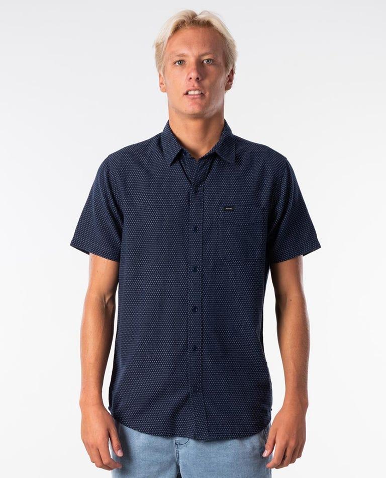 Sketch Short Sleeve Shirt in Navy