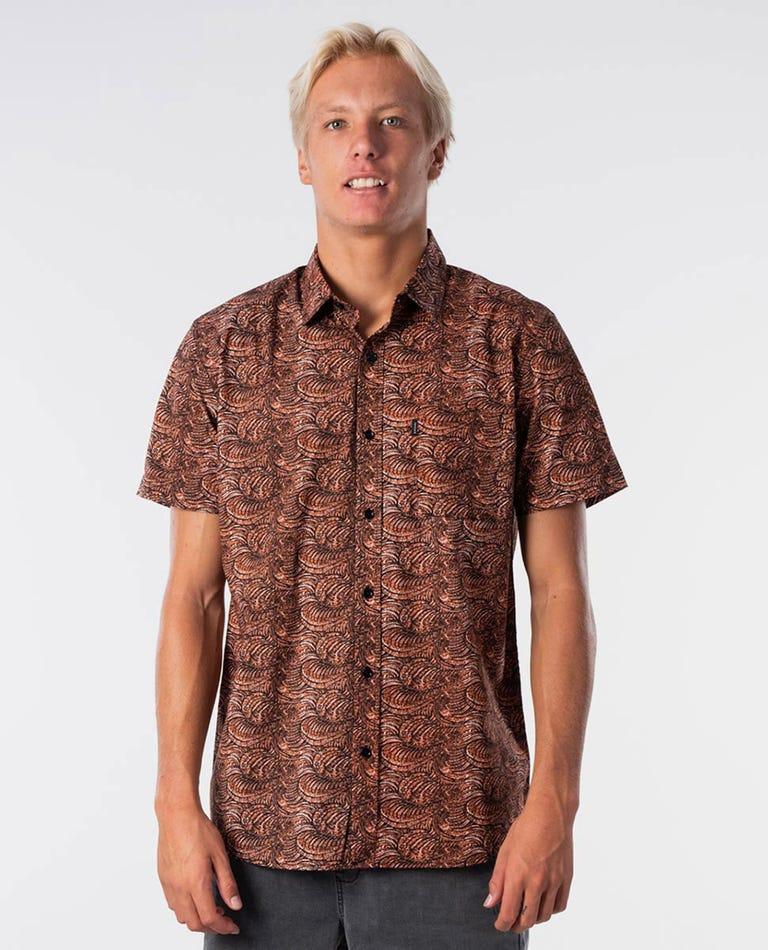 Barrelsnake Short Sleeve Shirt in Terracotta