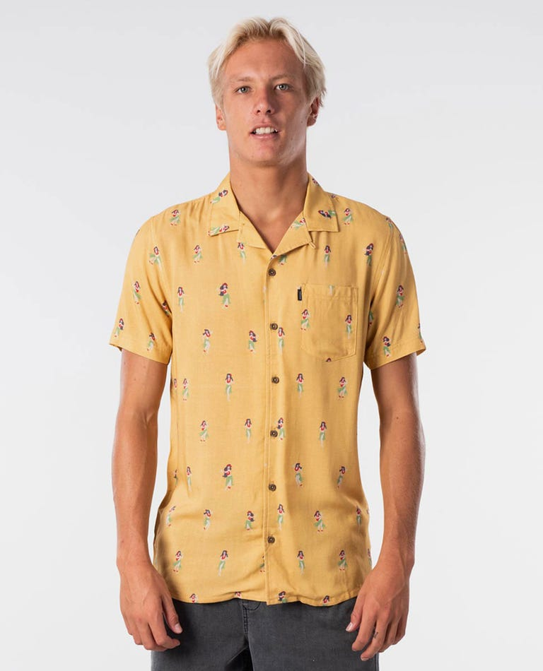 Vacation Short Sleeve Shirt in Washed Yellow
