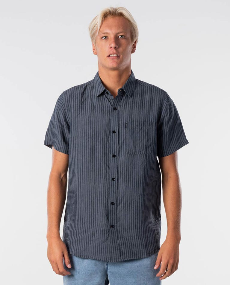 Laps Short Sleeve Shirt in Washed Black