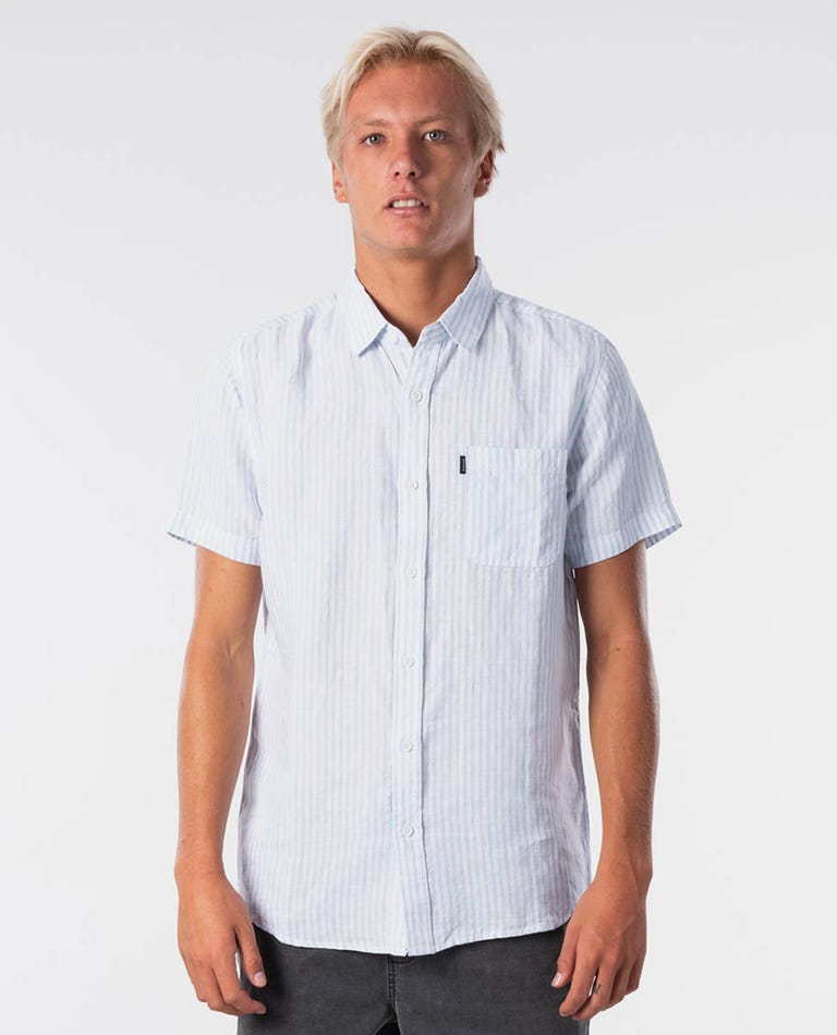 Laps Short Sleeve Shirt in Blue River