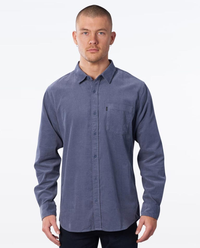 Refined Long Sleeve Shirt in Navy