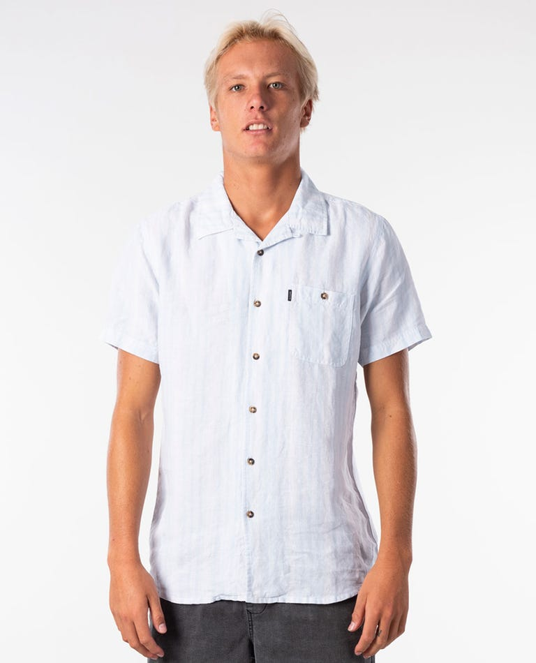 Vertigo Short Sleeve Shirt in Blue River
