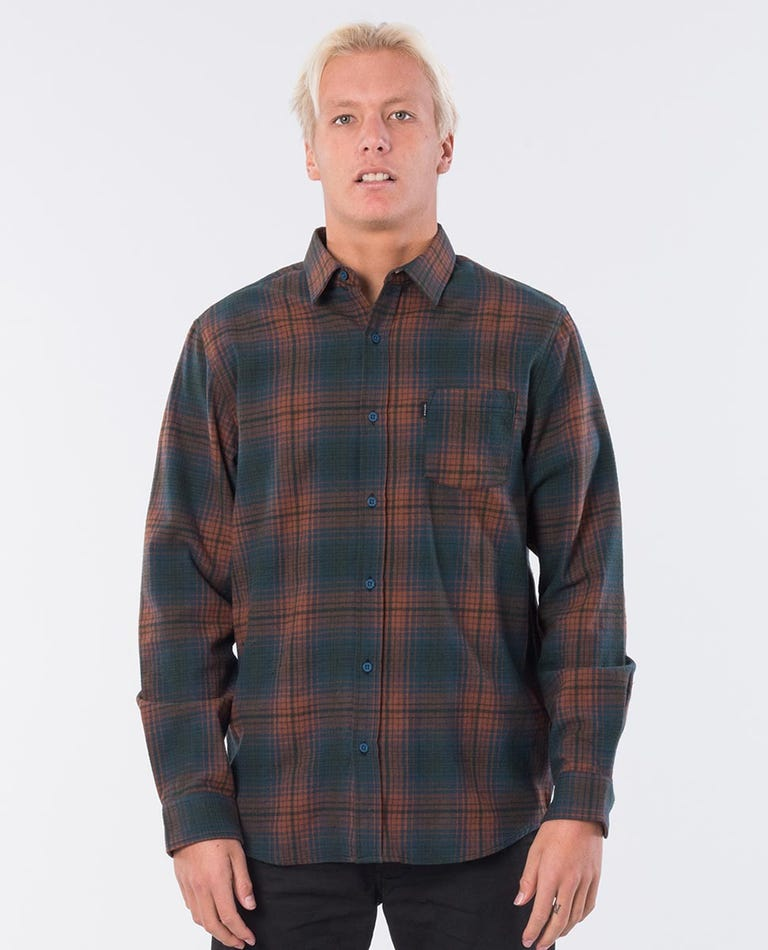 Charge Long Sleeve Shirt in Forest Green