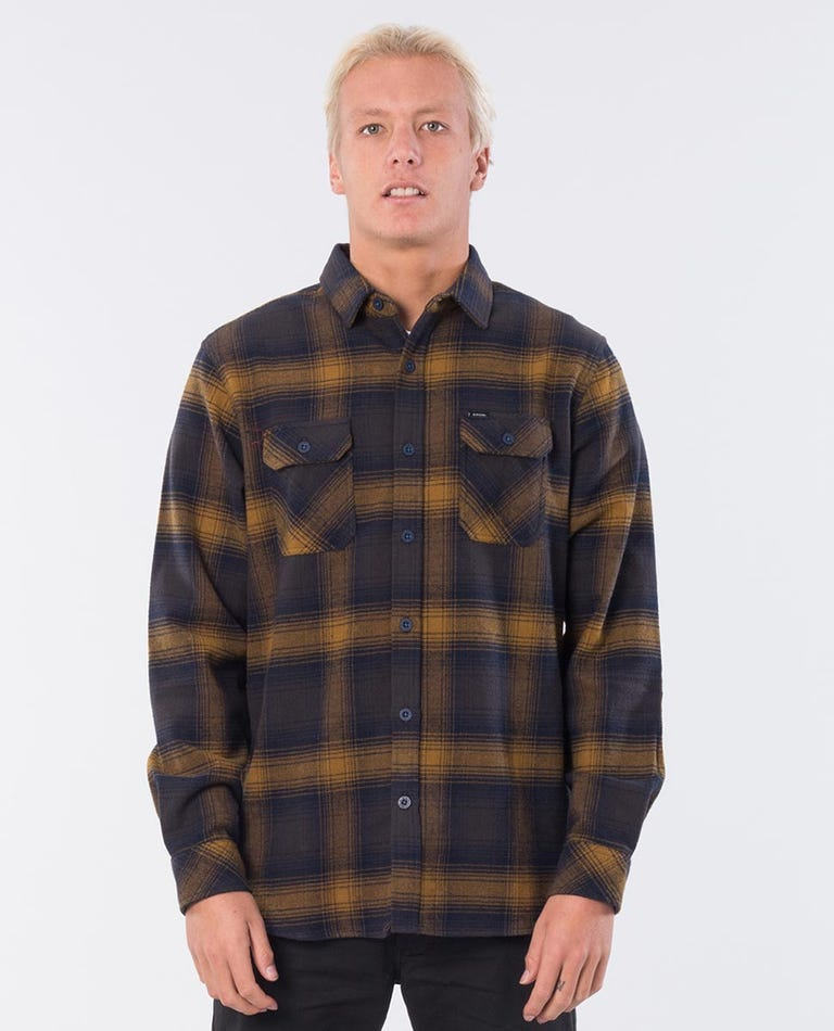 Count Long Sleeve Shirt in Washed Mustard