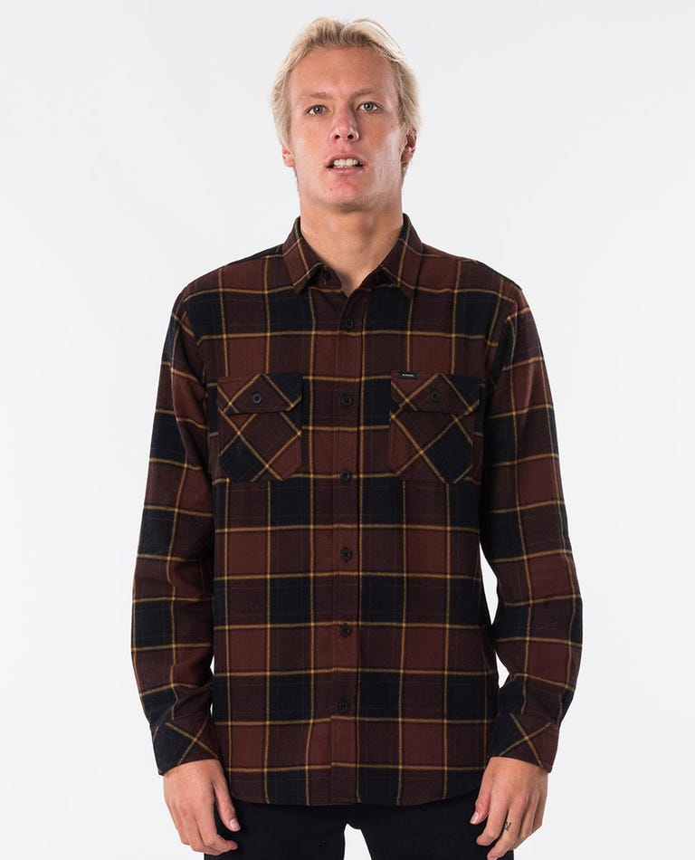 Rumble Long Sleeve Shirt in Burnt Red
