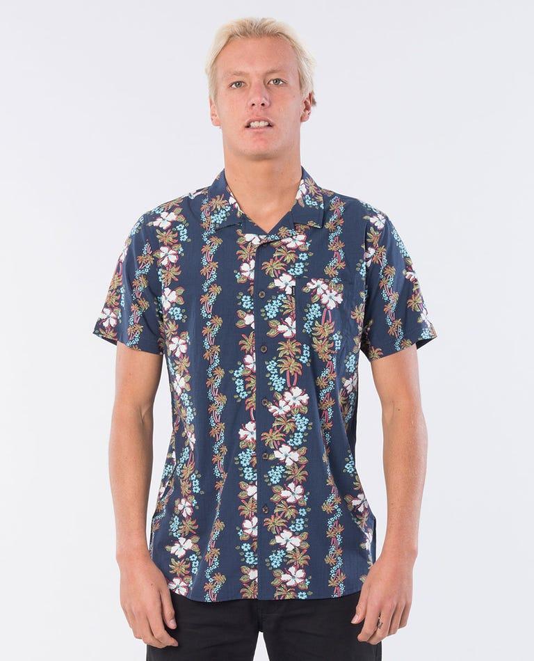 Davine Short Sleeve Shirt in Navy