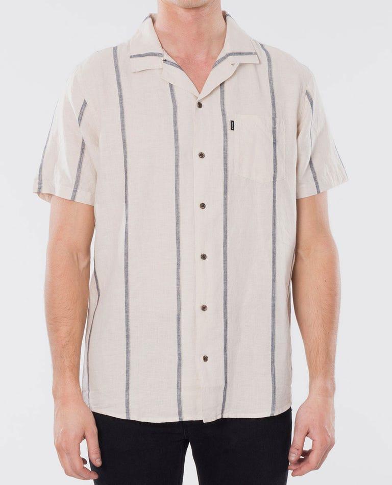 Infinity Vert Short Sleeve Shirt in Bone