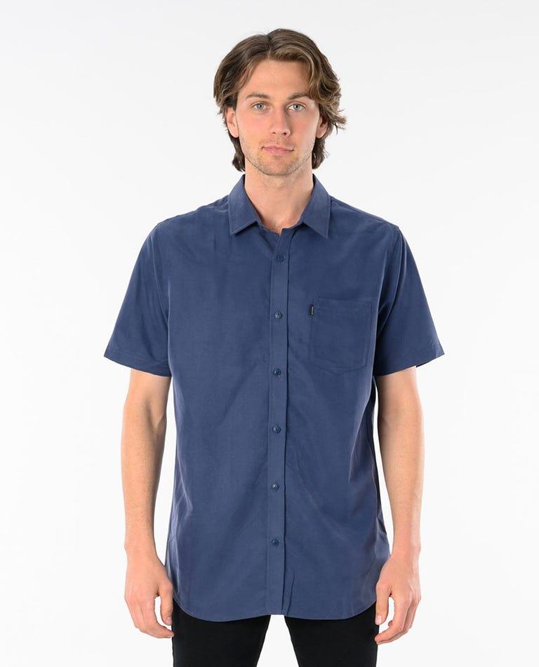 Singer Short Sleeve Shirt in Navy