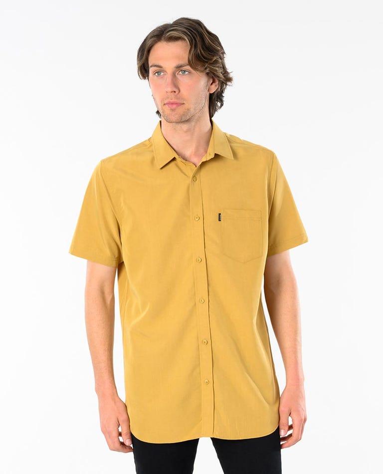 Singer Short Sleeve Shirt in Mustard