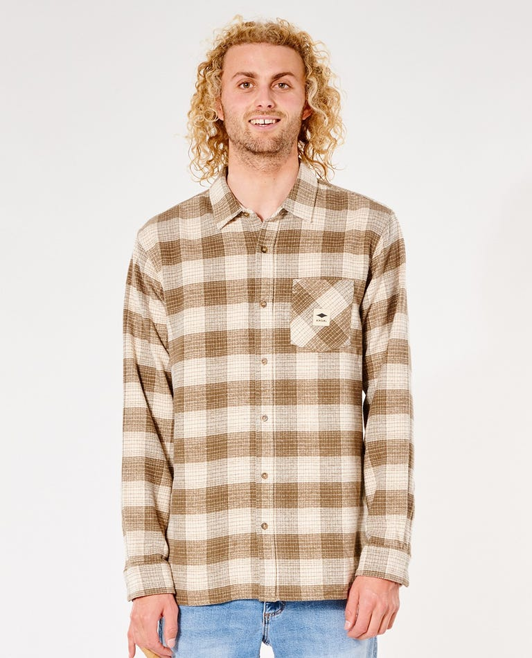Quality Product Long Sleeve Shirt in Bone