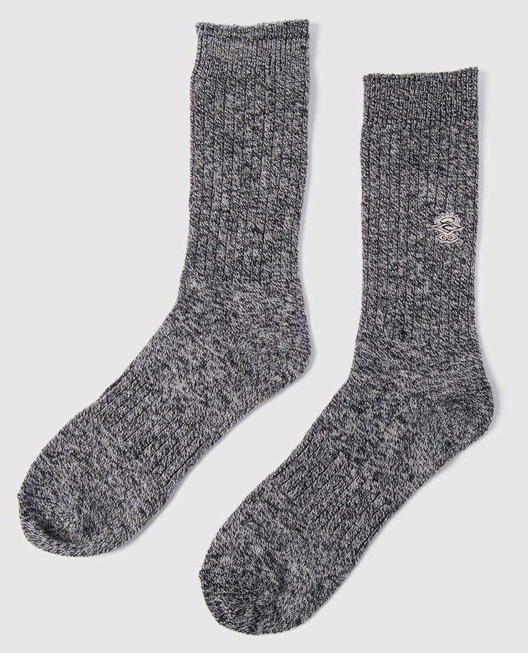 Arrival Wool Crew Sock in Black