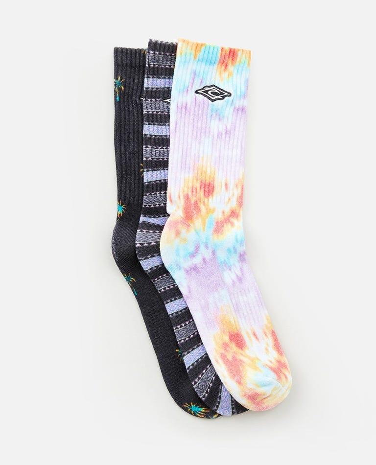 Art Crew 3 Pack Socks in Multico