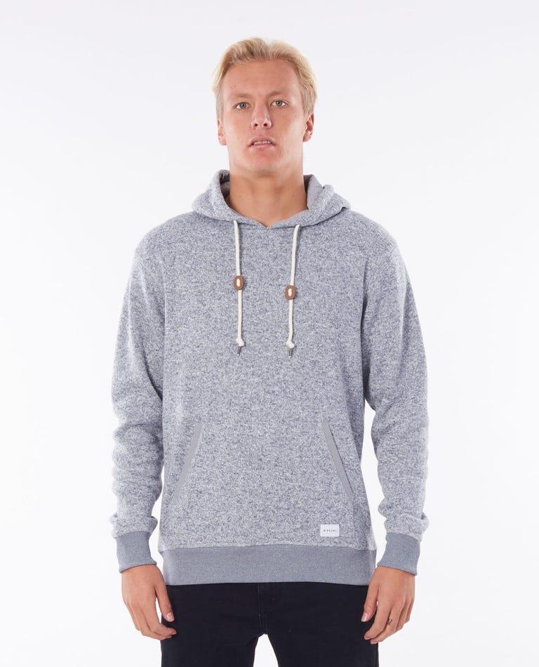 Crescent Hood in Grey Marle