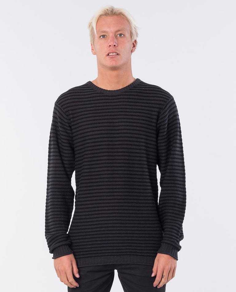 Levels Knit Crew in Black