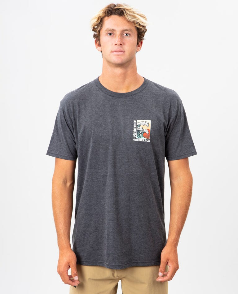 Double Up Premium Tee in Charcoal Heather